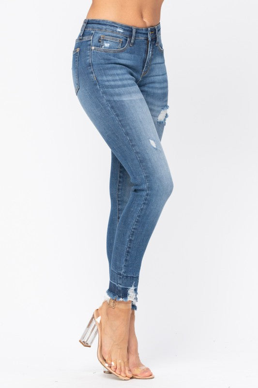 Judy Blue High Waist Destroyed Hem Denim
