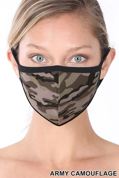 Adult Mask, Army Camo