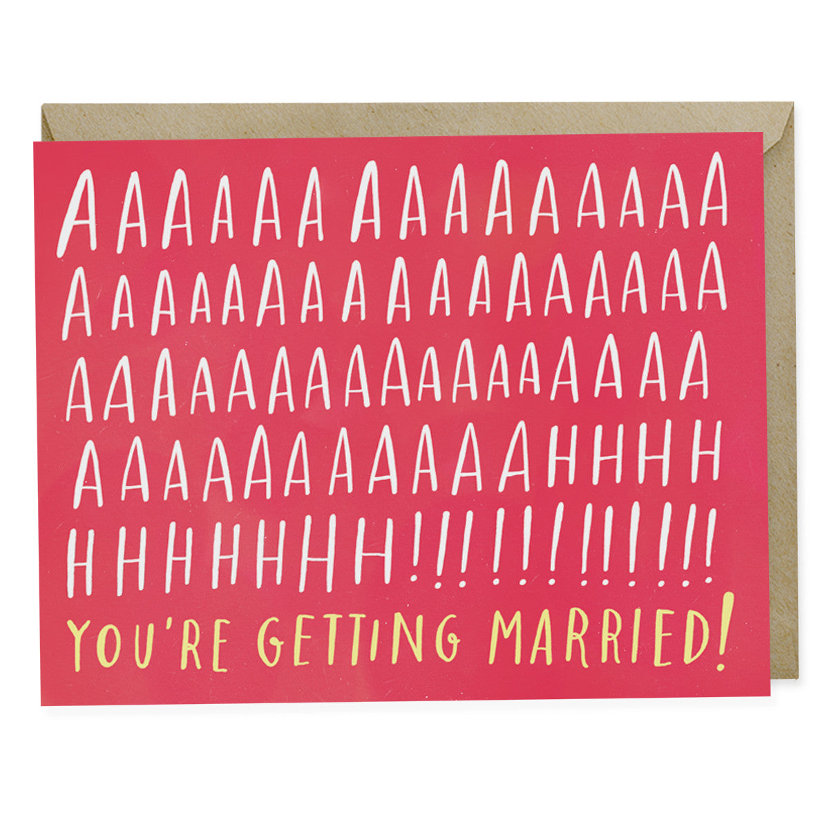 Aaaah! Married Engagement Card