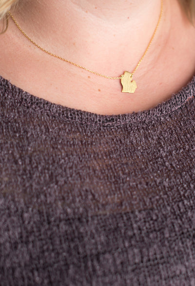 State of Michigan Necklace