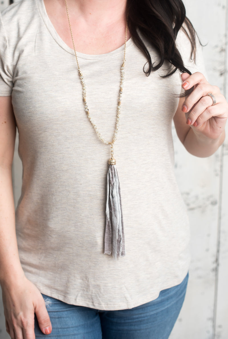 Totally Tassel Pendant Necklace- FINAL SALE
