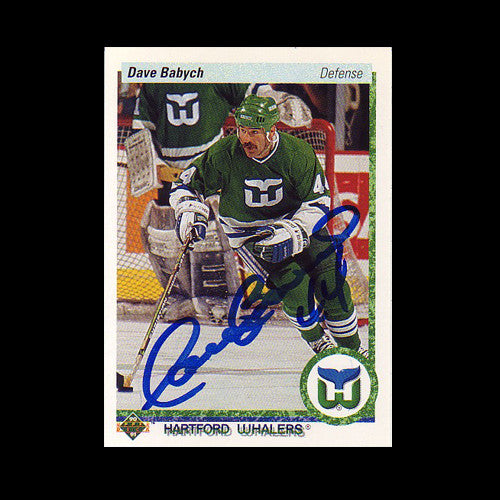 61db58fca ... T-Shirt Dave Babych Hartford Whalers Autographed Card ...