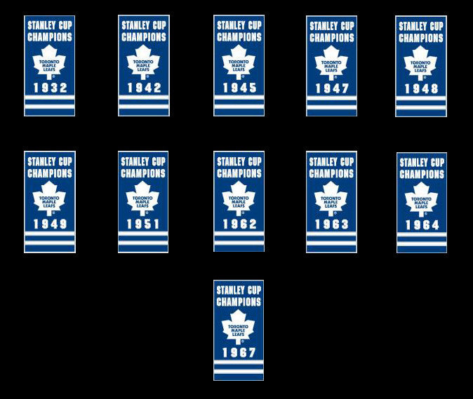 Toronto Maple Leafs Complete Set of 11 Stanley Cup Banner Pins