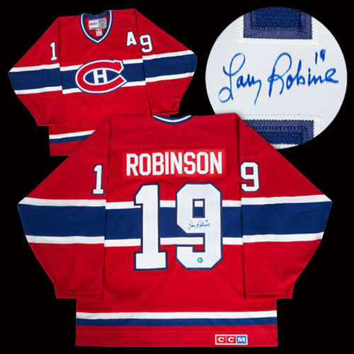 best value b4d21 c0912 Larry Robinson Montreal Canadiens Autographed Red CCM Retro Jersey