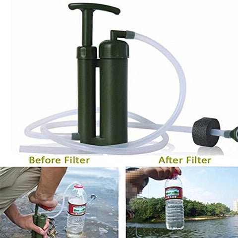 Soldier Portable Water Purifier Purification Backpacking Pump Filter W/Hard Case