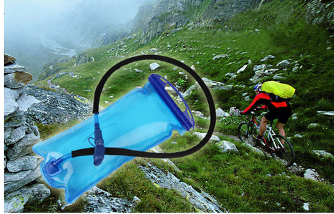 2L PEVA Wide Mouth Hydration Drinking Water for Sports Hiking Camping and Cycling