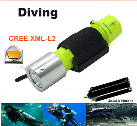 18650 3x AAA CREE XM-L T6 Waterproof Underwater LED Diving Flashlight