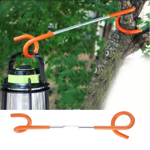 1pc 2 way Lantern Light Lamp Hanger Hook for Outdoor Camping