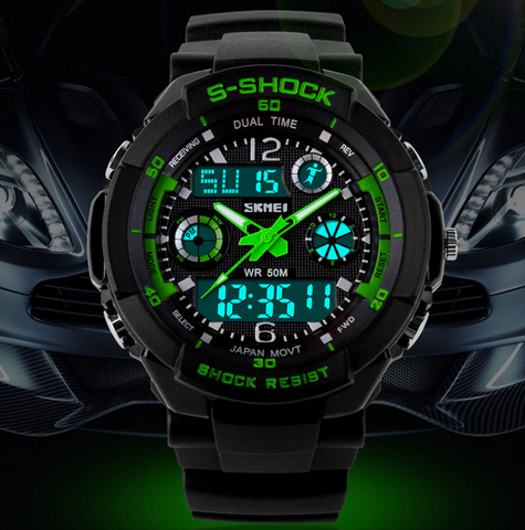 SKMEI Sports Brand Men's Digital Shock Resistant Quartz Outdoor Military Watch