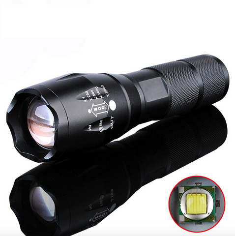 LED Flashlight 2000 Lumen Tactical Waterproof Zoomable Powerful XML T6 Lamp Camping Torch