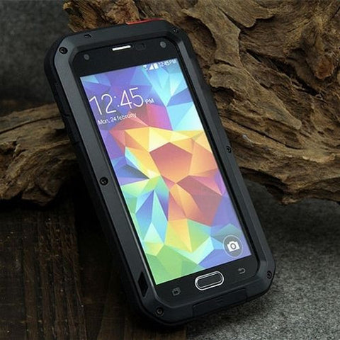Water Resistant Aluminum Shockproof Metal Case Cover for Samsung Galaxy S4/S5/S6/S7/S6+S7 Edge