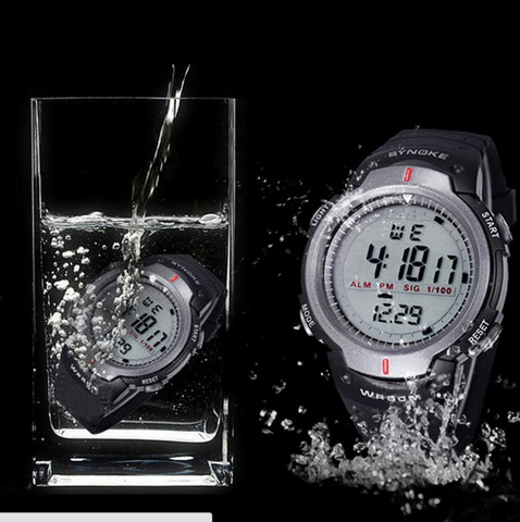 Synoke Men's Waterproof Outdoor Electronic Digital Watch