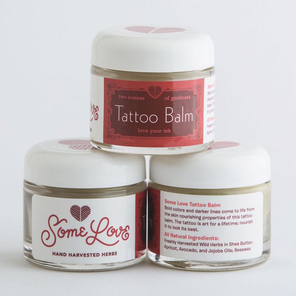 All-natural Ingredient List for Herbal Tattoo Care Balm