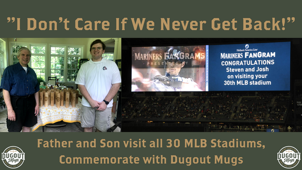 Father Son Visit All 30 MLB Stadiums, Commemorate with Dugout Mugs