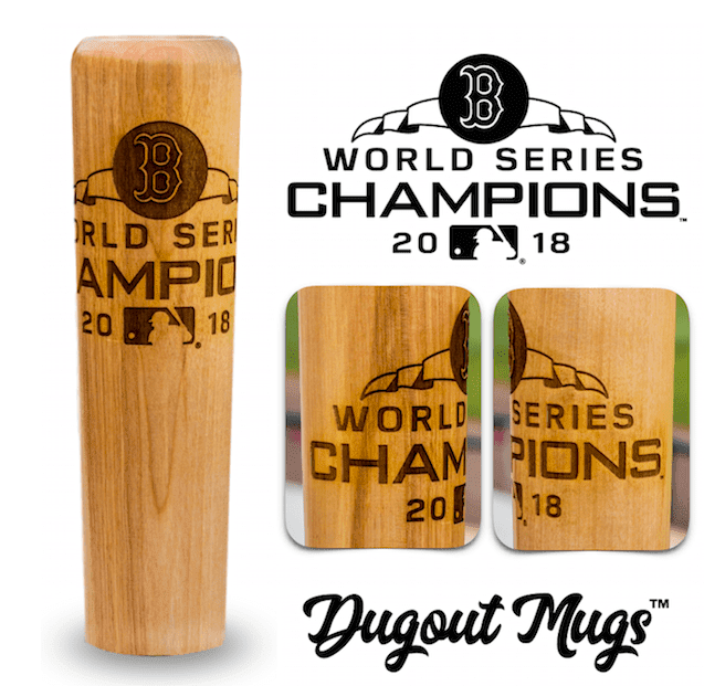 2018 World Series Boston Red Sox Bat Mug