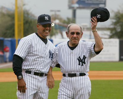 Reggie Jackson and Yogi Berra