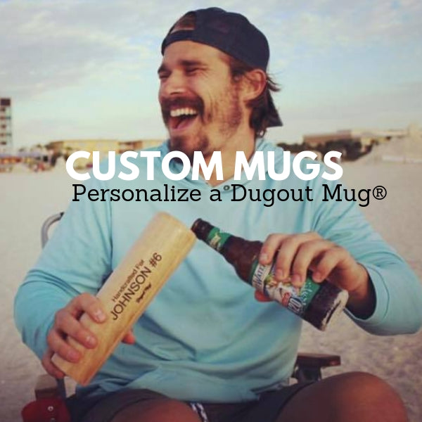 custom baseball bat dugout mug