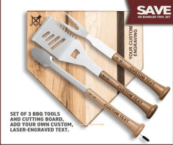 fathers day gift for new dad ideas - personalized BBQ tools baseball style