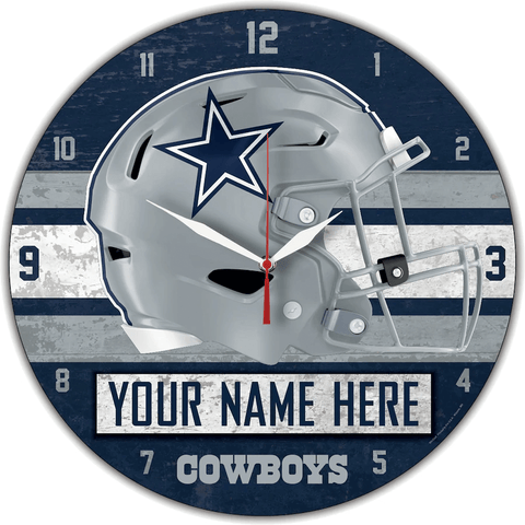 personalized fathers day gift ideas - team wall clock