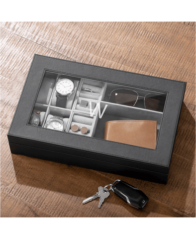 personalized fathers day gift ideas - watch and watch box organizer
