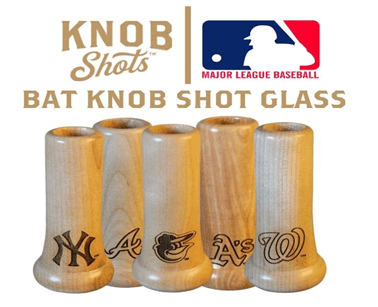 unique fathers day gift ideas from daughters - custom baseball handle shot glass