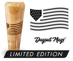 Baseball Flag Baseball Bat Mug | Dugout Mug® Single Mug - $39.99