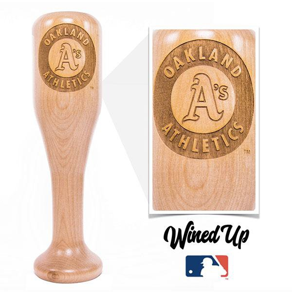 baseball bat wine glass Oakland Athletics