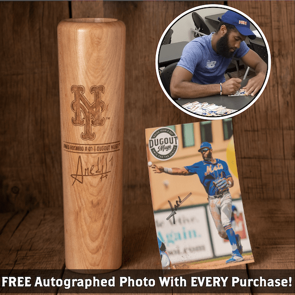 Amed Rosario Autographed Photo and Dugout Mug Combo (ONLY 150 AVAILABLE) Amed Rosario Signature Series