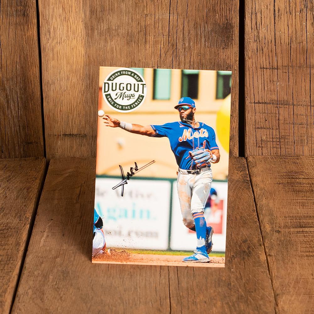 Amed Rosario Autographed Photo and Dugout Mug Combo (ONLY 150 AVAILABLE)