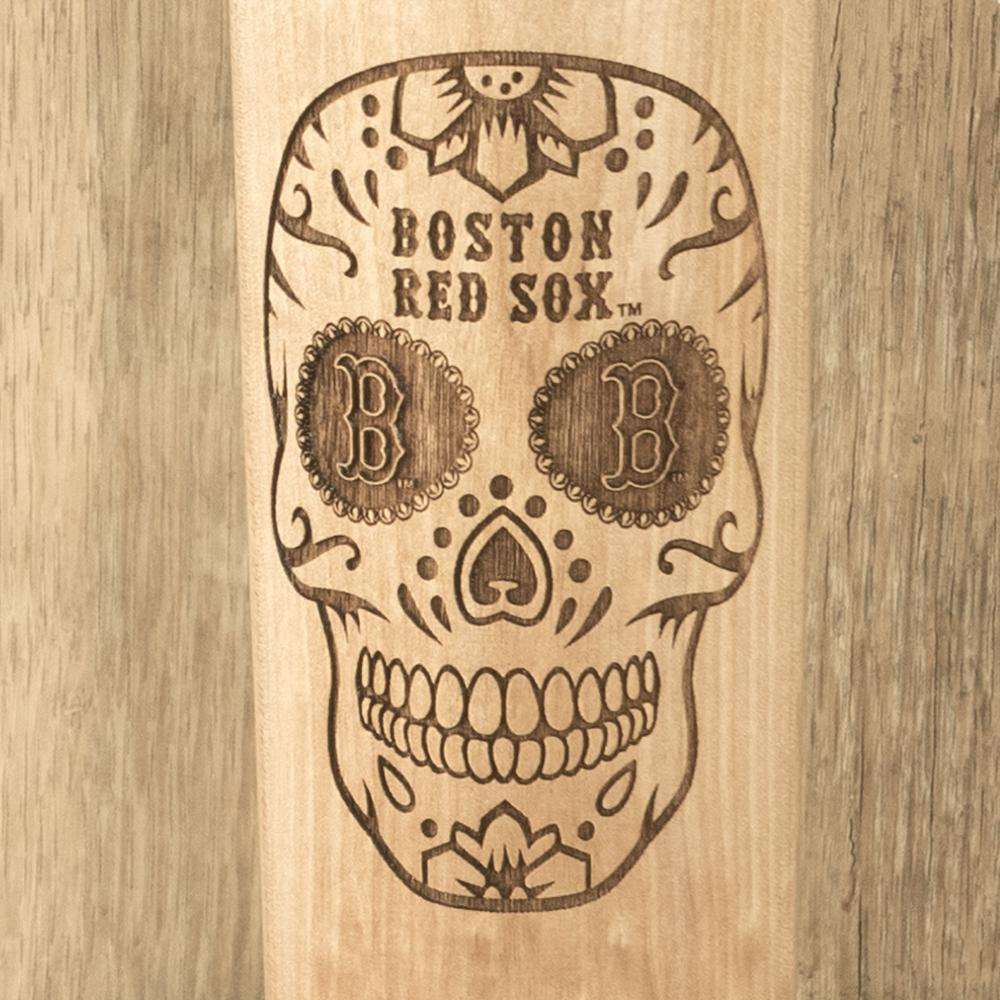 Boston RedSox Sugar Skull Baseball Bat Mug Details