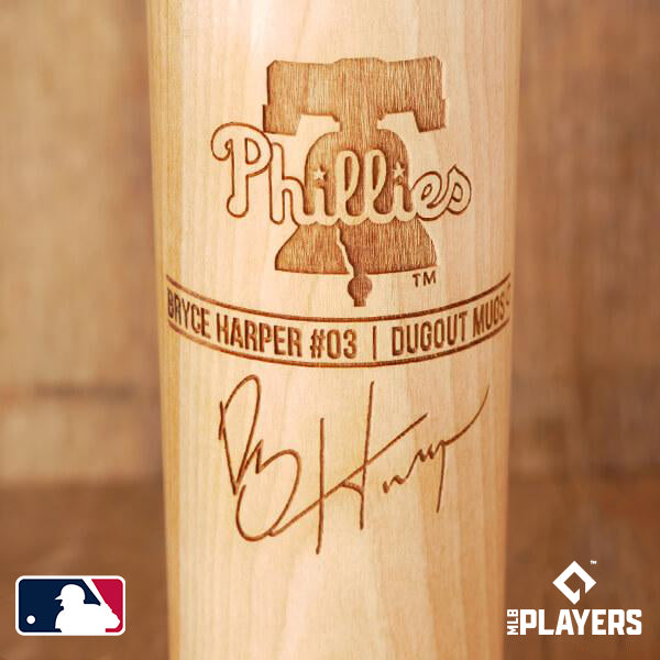 Bryce Harper Baseball Bat Mug | Philadelphia Phillies | Signature Series Dugout Mug®