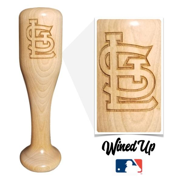 baseball bat wine glass St.Louis Cardinals STL