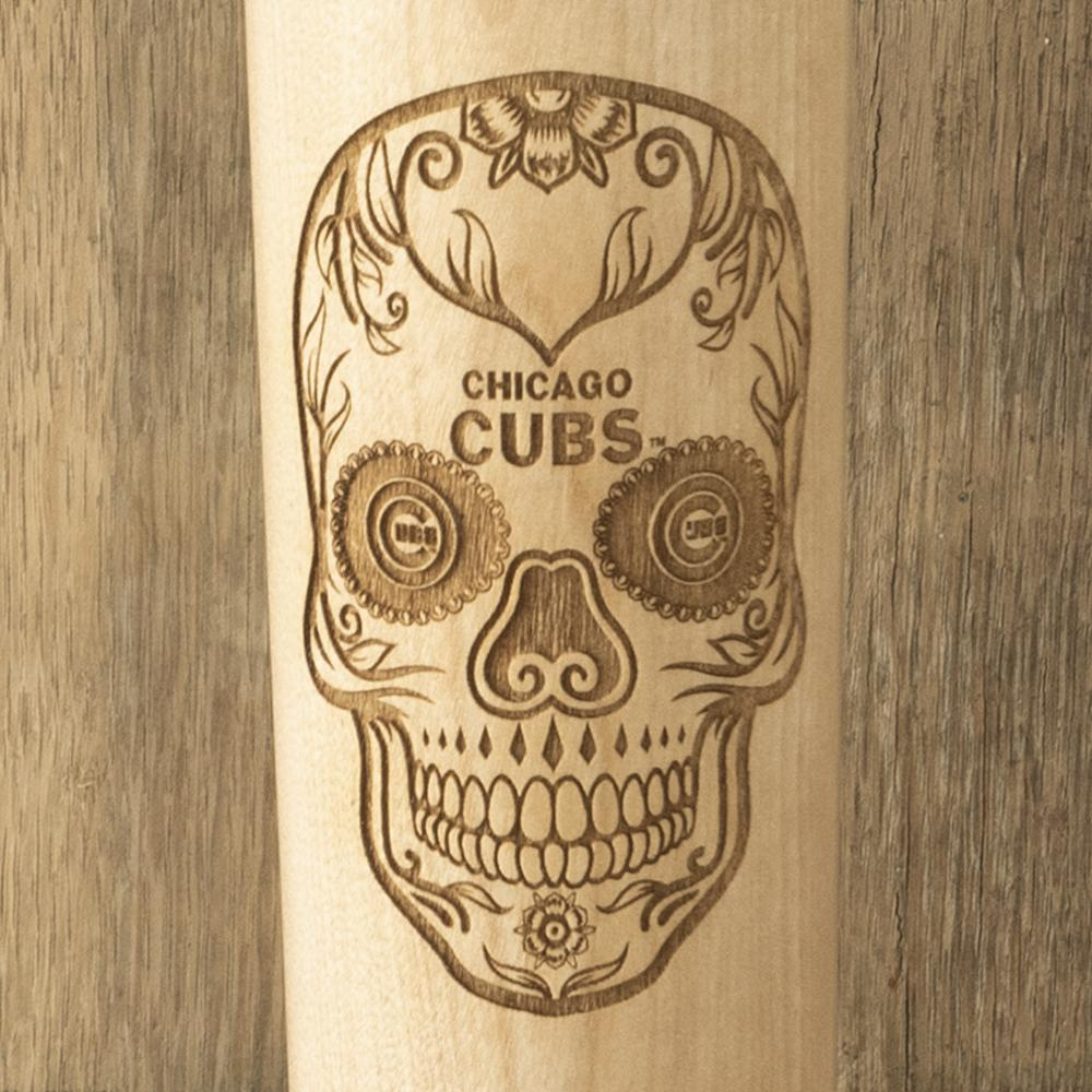 Chicago Cubs Sugar Skull Baseball Bat Mug Details