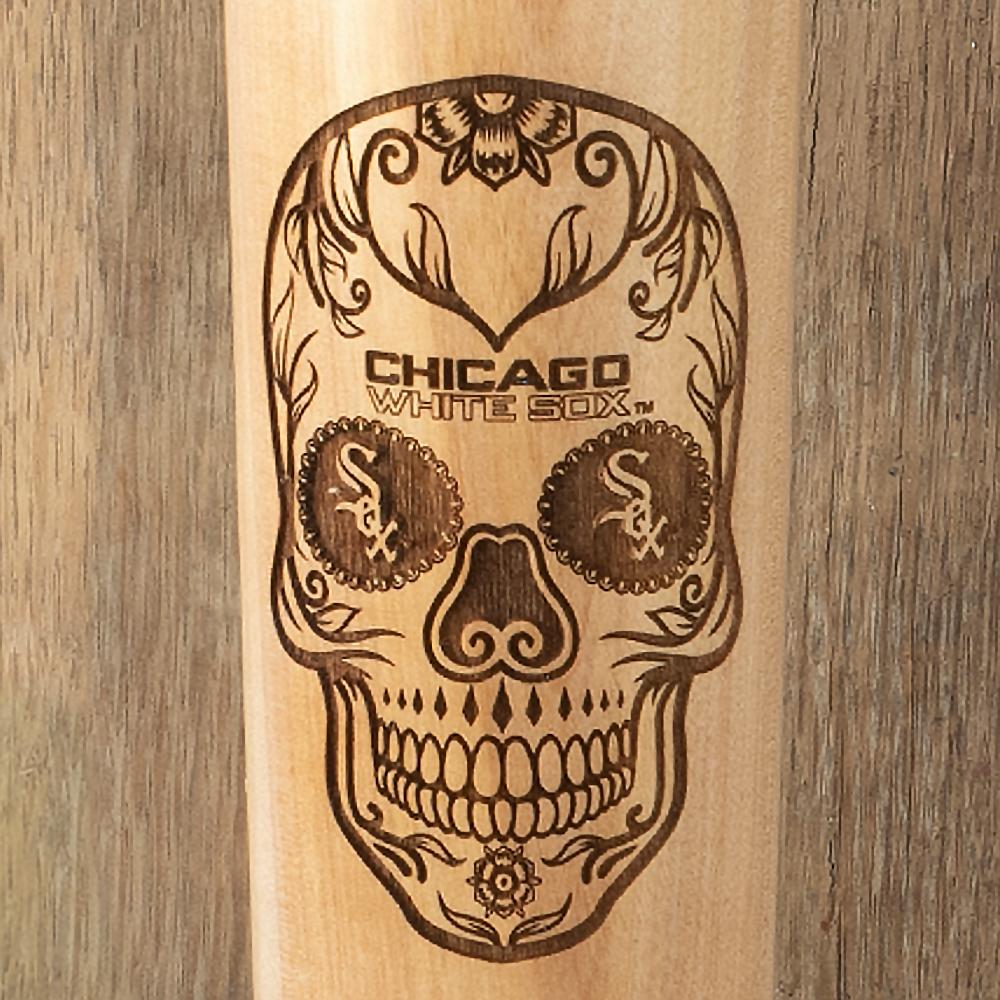 Chicago White Sox Sugar Skull Baseball Bat Mug Details