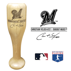 Christian Yelich Baseball Bat Wine Glass | Milwaukee Brewers | Signature Series Wined Up®