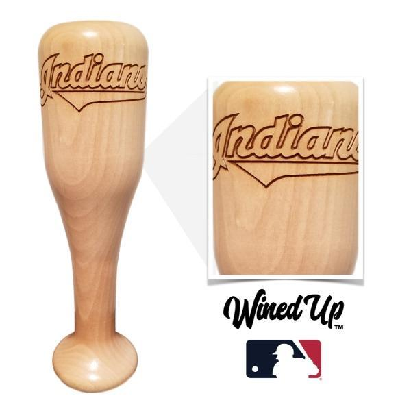 baseball bat wine glass Cleveland Indians