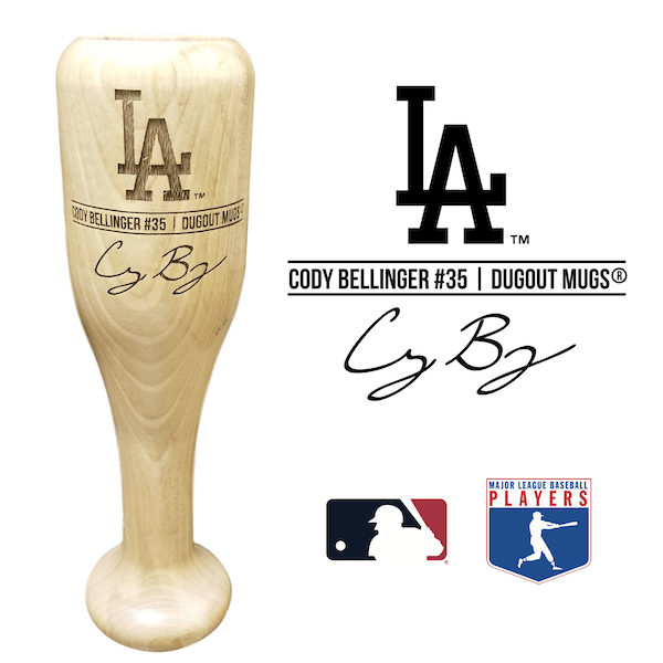 Cody Bellinger Baseball Bat Wine Glass | Los Angeles Dodgers | Signature Series Wined Up®