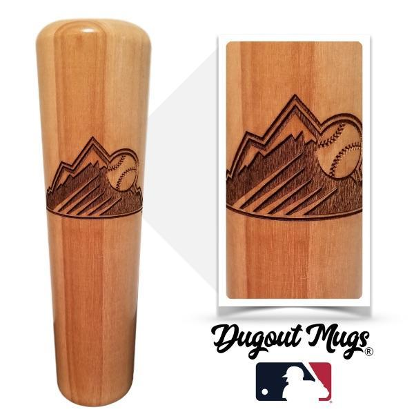 baseball bat mug Colorado Rockies Mountain
