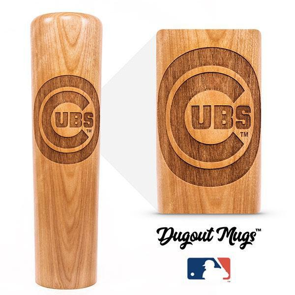 baseball bat mug Chicago Cubs