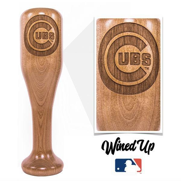 Cubs Baseball Bat Wine Glass gift for baseball fan