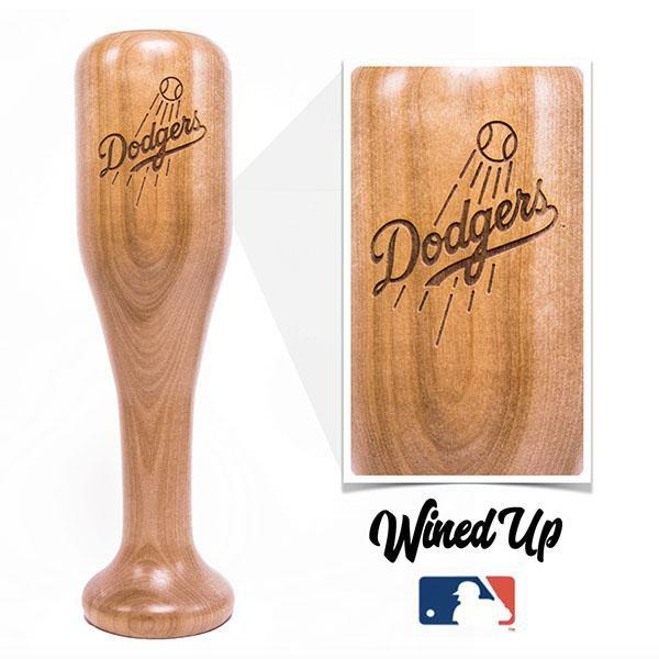 baseball bat wine glass Los Angeles Dodgers
