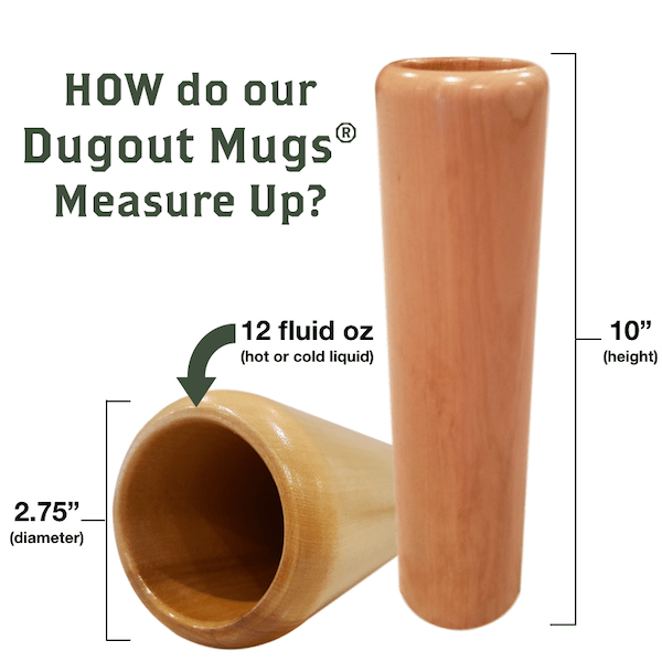 baseball bat mug measure up