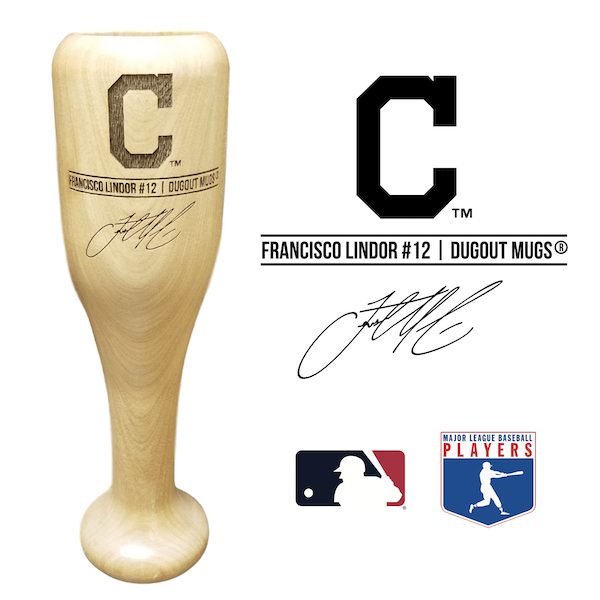 Francisco Lindor Baseball Bat Wine Glass | Cleveland Indians | Signature Series Wined Up®
