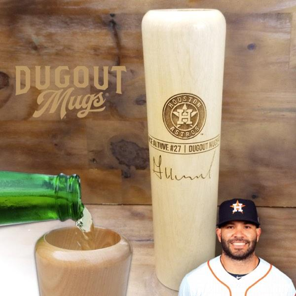 Jose Altuve Baseball Bat Mug | Houston Astros | Signature Series Dugout Mug®