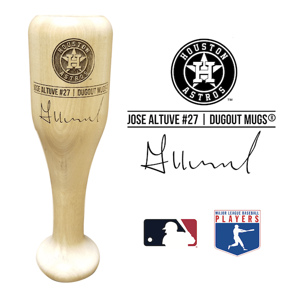 Jose Altuve Baseball Bat Wine Glass | Houston Astros | Signature Series Wined Up®