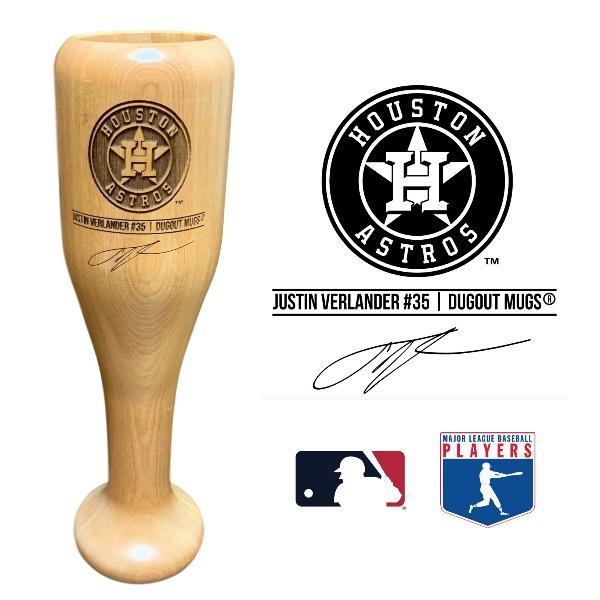Justin Verlander Baseball Bat Wine Glass | Houston Astros | Signature Series Wined Up®