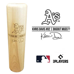 Khris Davis Baseball Bat Mug | Oakland Athletics | Signature Series Dugout Mug® -