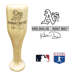Khris Davis Baseball Bat Wine Glass | Oakland Athletics | Signature Series Wined Up®