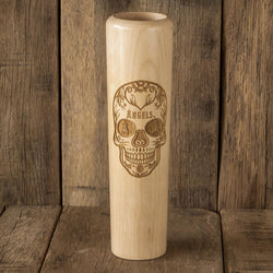 Los Angeles Angels Sugar Skull Baseball Bat Mug