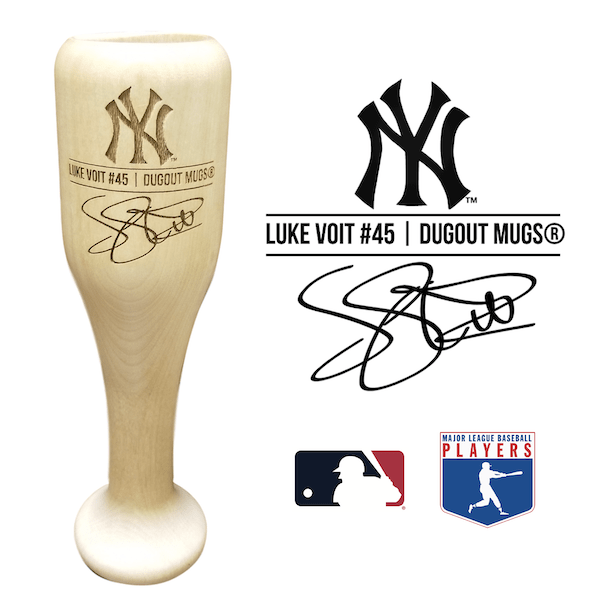 Luke Voit Baseball Bat Wine Glass | New York Yankees | Signature Series Wined Up®